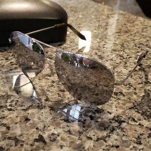 Platinum mirror sunglasses